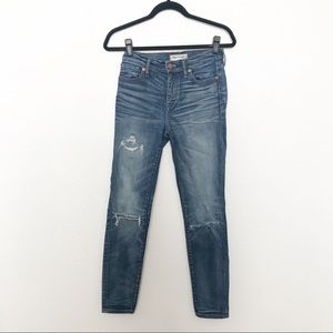 Madewell High Riser Skinny Distressed Jeans